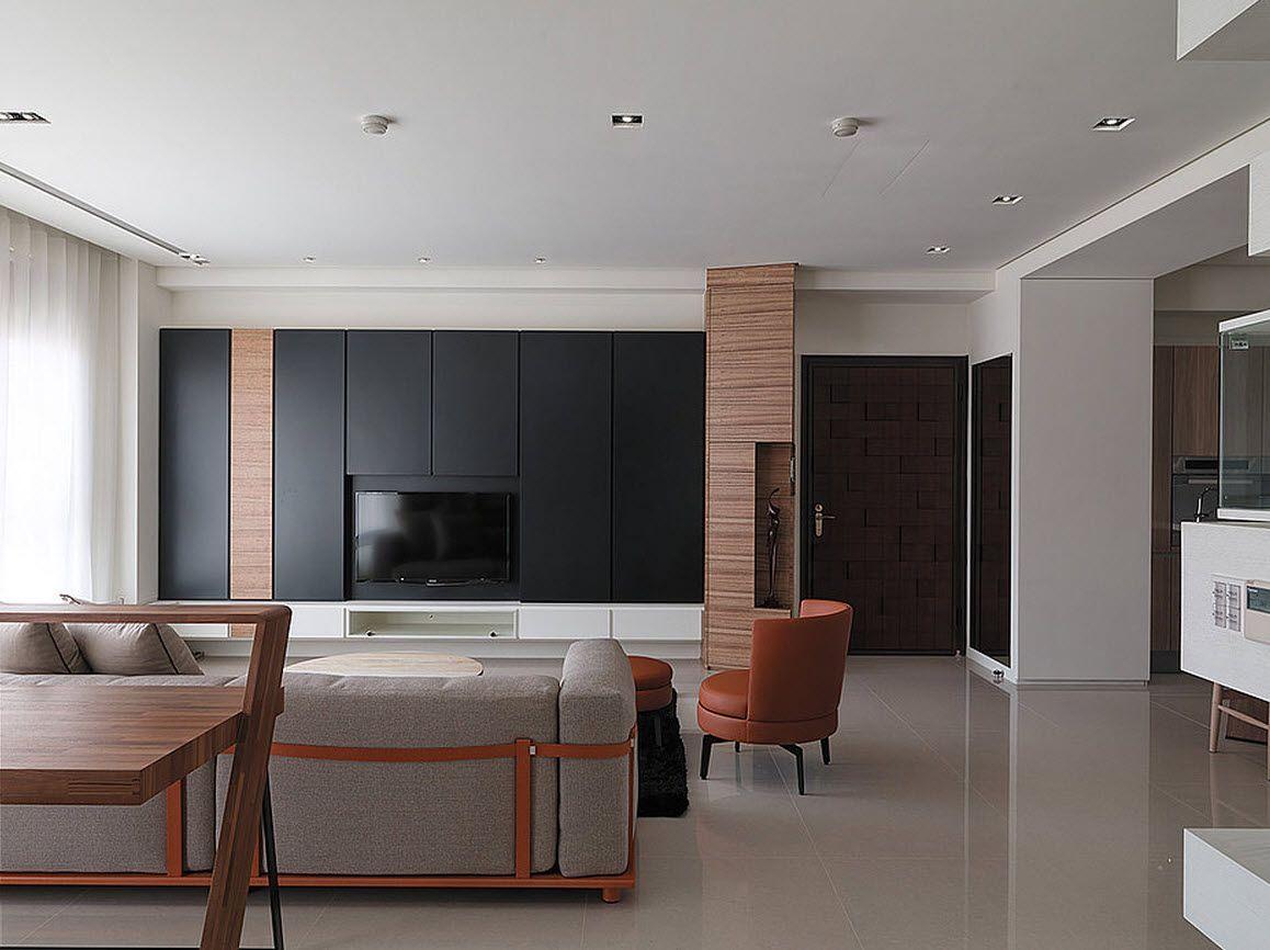 Plano y diseño de casa pequeña, moderna decoración de interiores con ...