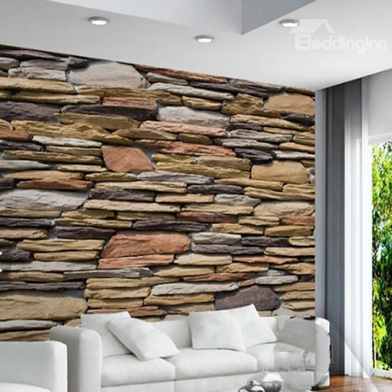 3D Wood Wall Printed Sturdy Waterproof and Eco friendly Wall Mural