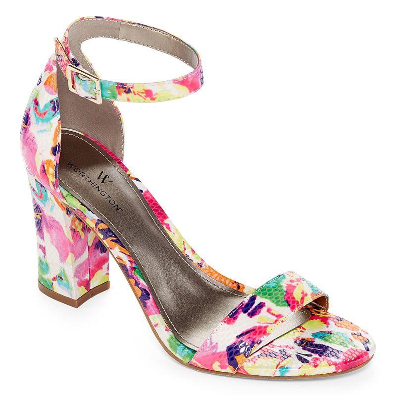 12a5e93388c6 Worthington Beckwith Womens Heeled Sandals