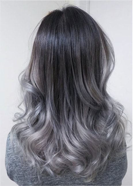 Half Grey Hairs With Black Color Touch Provestyles Ombre Hair Cabelo Californiana Hair Hair