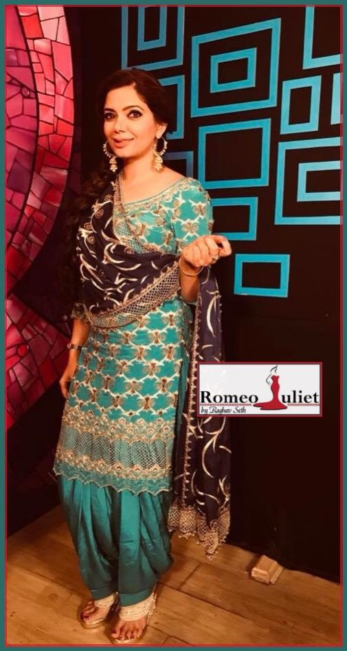 ccceabea3ba Satinder Satti in Beautiful designer punjabi suit by one and only ROMEO  JULIET.