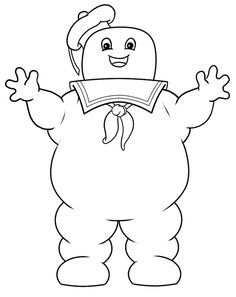 Ghostbusters Stay Puft Marshmallow Man Coloring Pages In