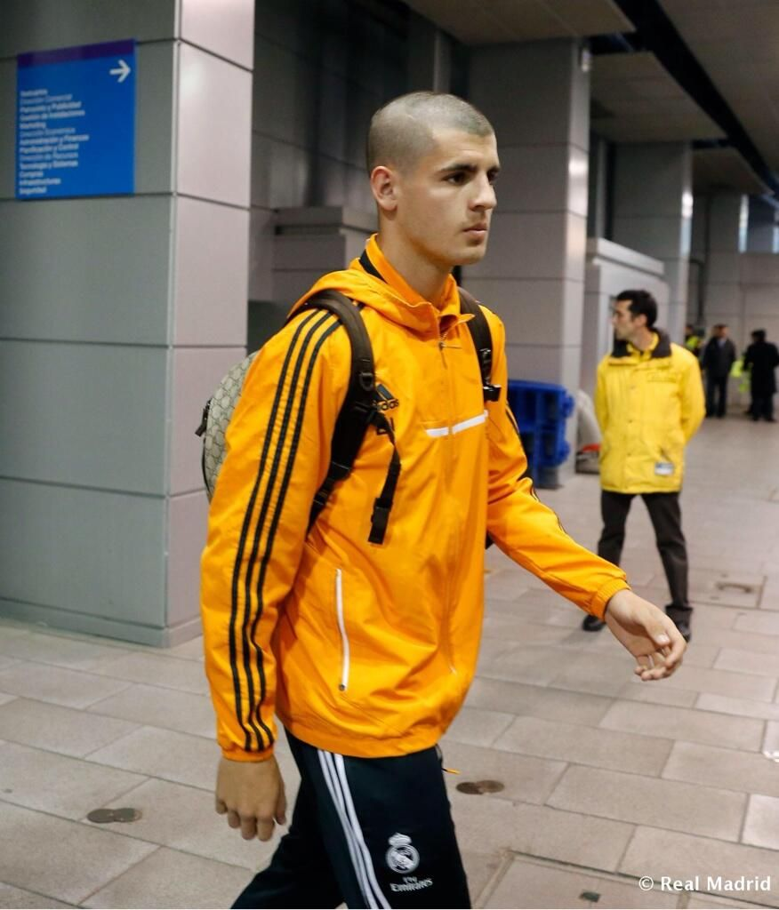 Llegada al Bernabéu | Alvaro Morata pic.twitter.com/qWt1IHaknC