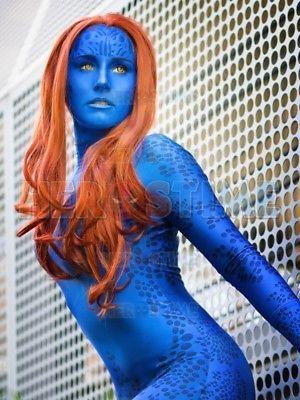 Xmen Film Mystique Costume 3D Print Cosplay SpandexX Men Girl