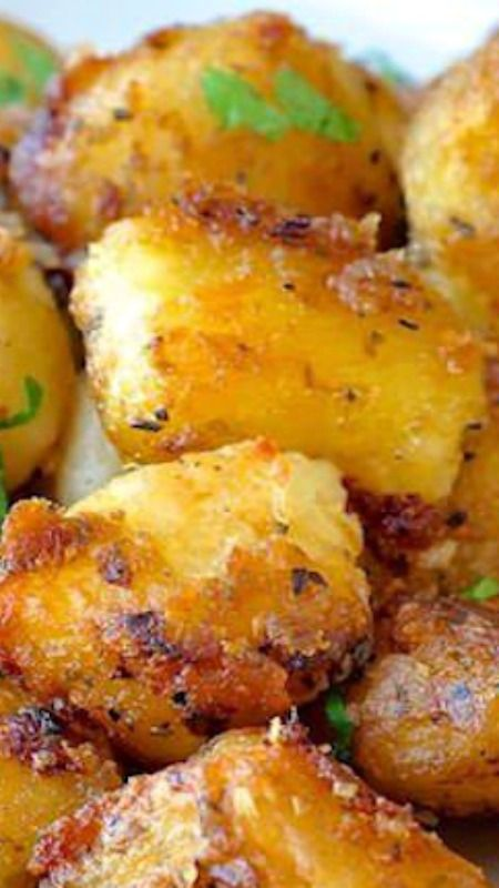 Lemon Herb Roasted Potato Nuggets ~ a terrific side dish... crispy flavour in every bite.