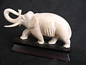 Genuine Ivory Carved Elephant Figurines Pinterest Ivory