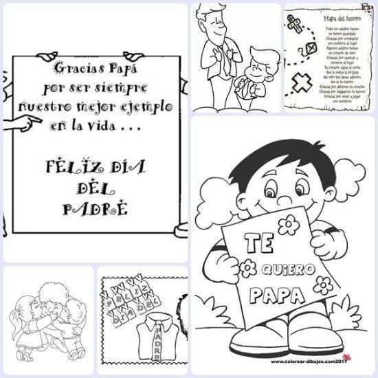 6 Dibujos Para El Dia Del Padre Dia Del Padre Dibujos Dia Del