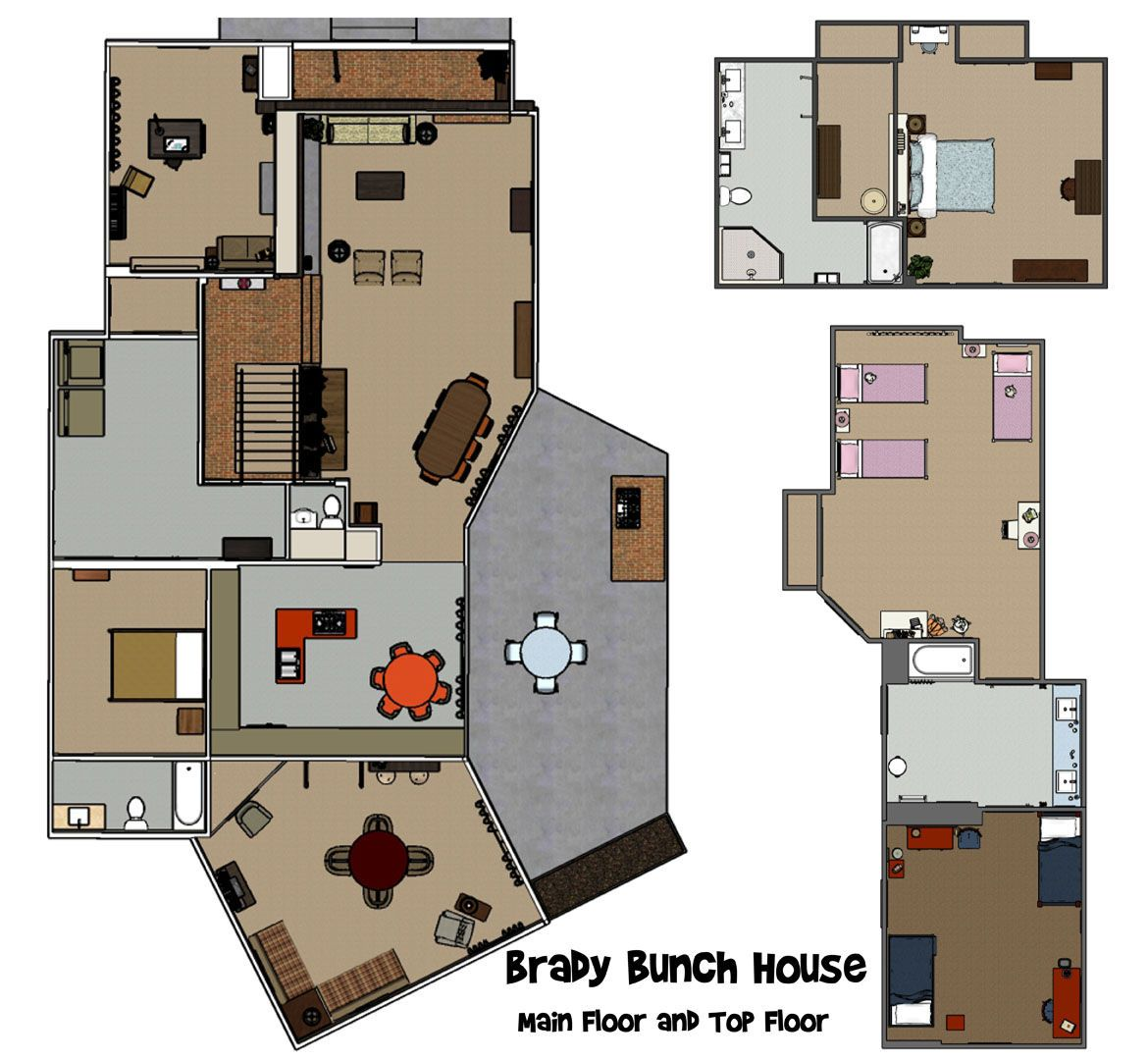 In Depth The Brady Bunch The Brady Bunch House Blueprints Renovations