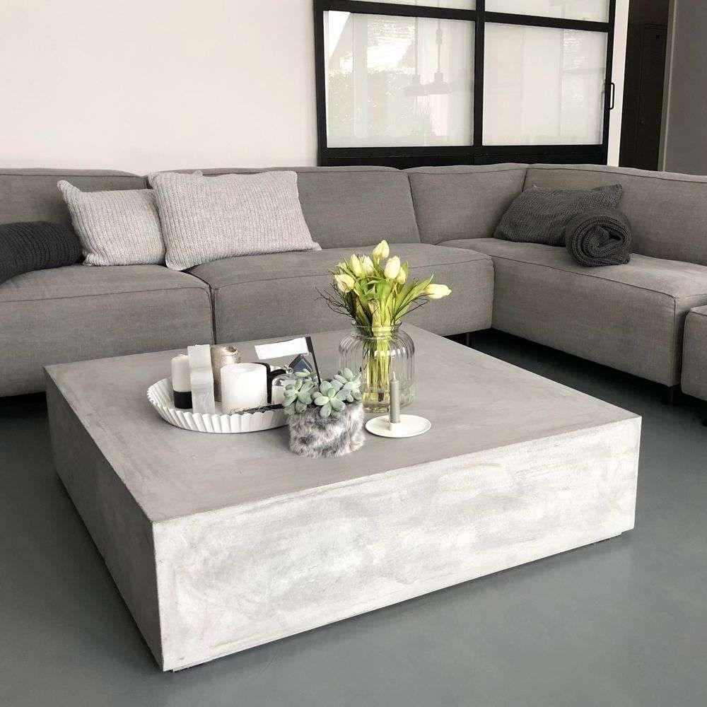 Beton Block Couchtisch Loungetisch betongrau