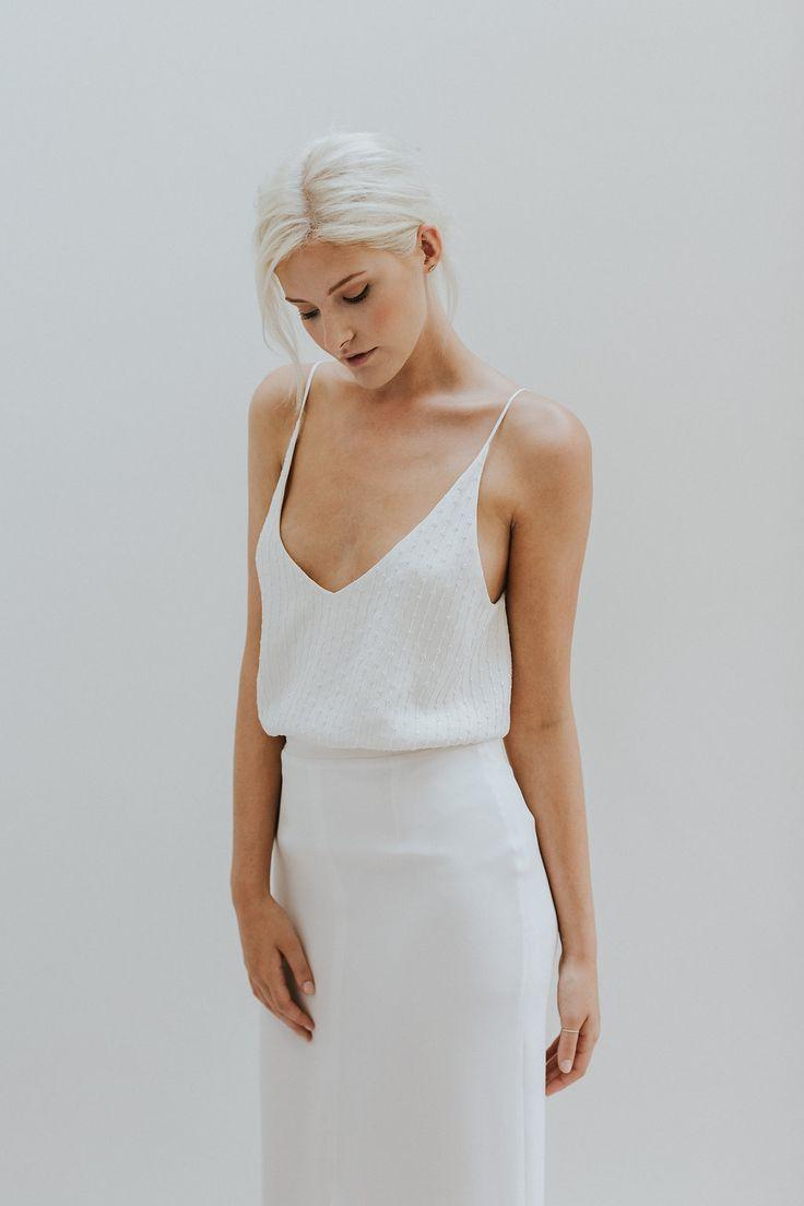 Simple modern wedding dress  Elegant u Minimal Bridal Gowns by Charlotte Simpson  Wedding