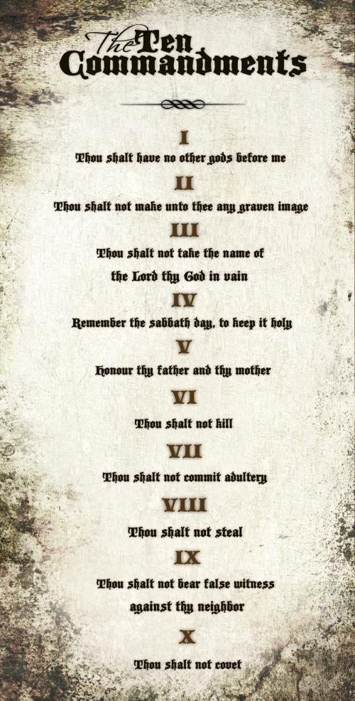 The Ten Commandments 10 Commandments Bible Prayers Ten Commandments