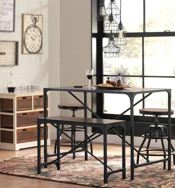 16999 Industrial Empire Pub Table Tables Add Casual Sophistication To Your Space