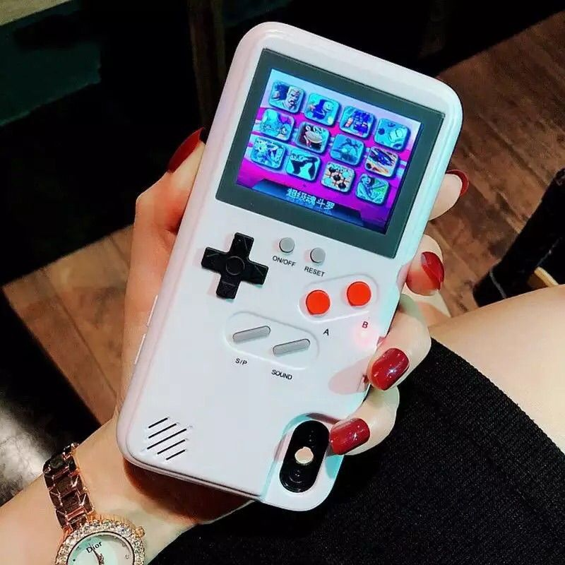 Apple Accessories | Gameboy Style Case For Iphone X | Color: White | Size: Os