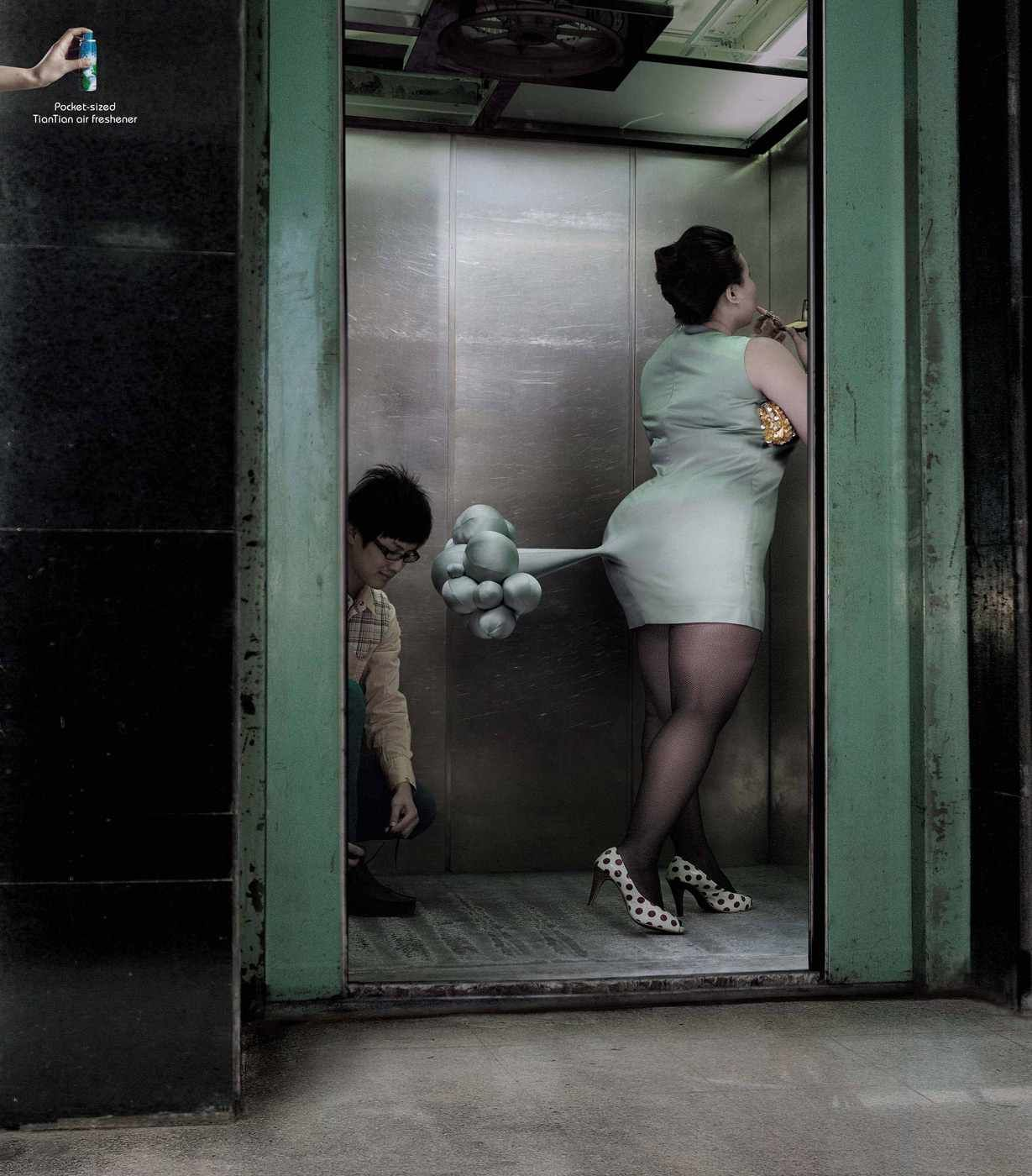China Tiantian Elevator Pocket Sized Tiantian Air Freshener