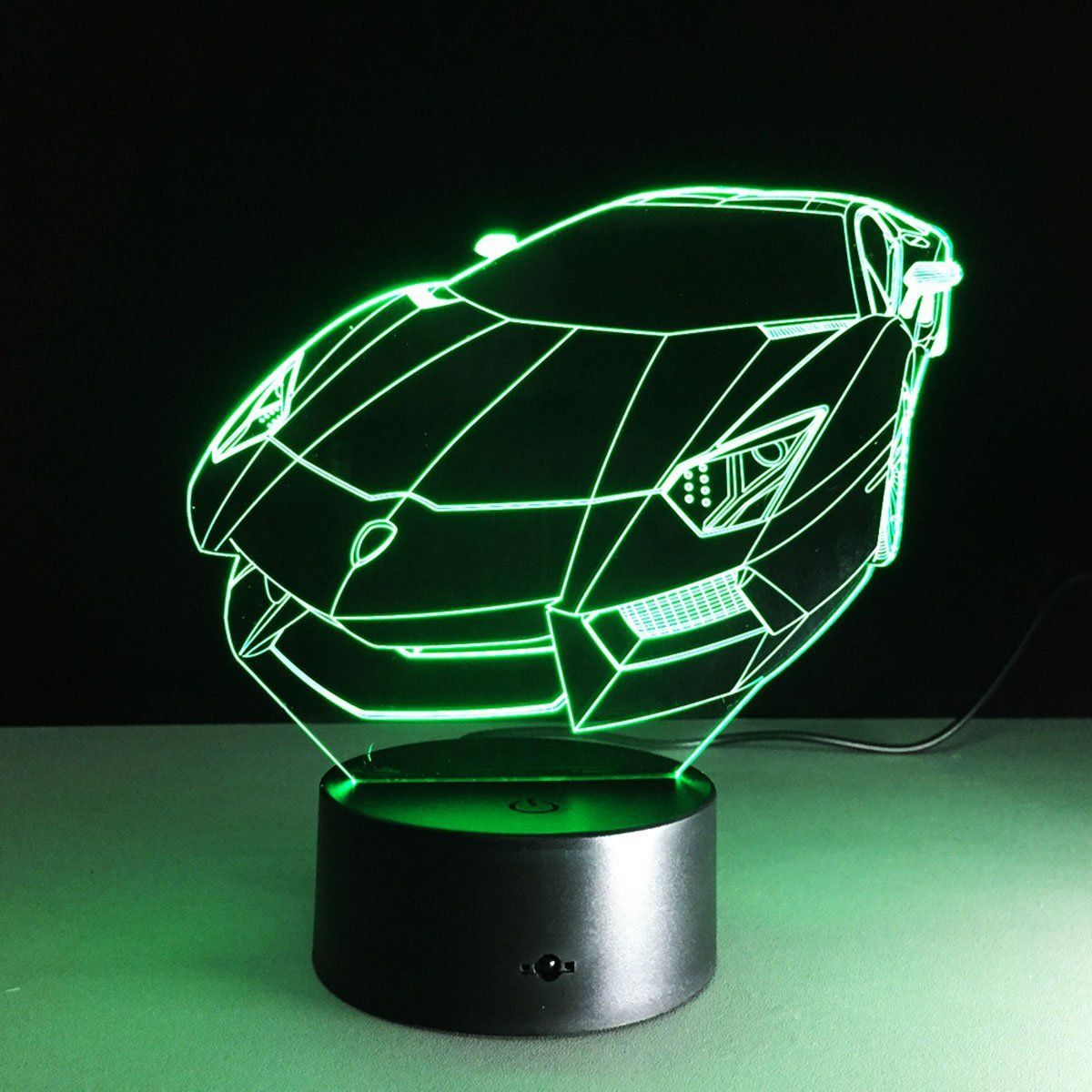 Novelty 3d Vehicle Design Table Desk Lamp 7 Colors Optical Illusion Led Night Lights With Unique Lighting Effect Specia 3d Led Night Light Led Night Light Lamp