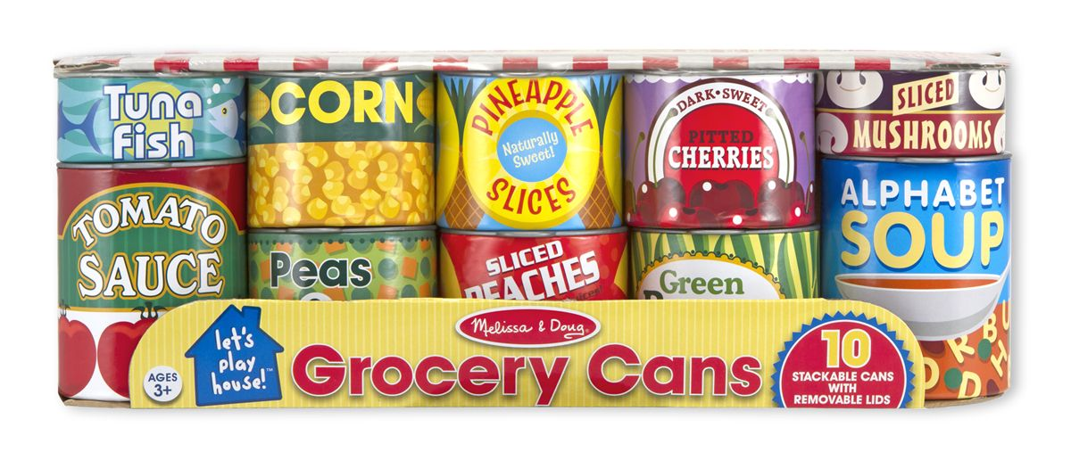 Lets Play House Grocery Cans All Food Play Melissa And Doug