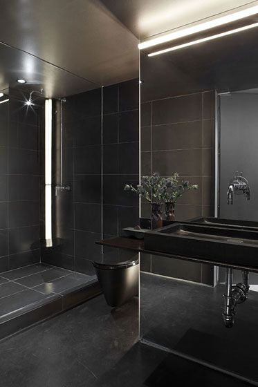 Amazing Minimalist Black Bathroom Http Pinterest Com