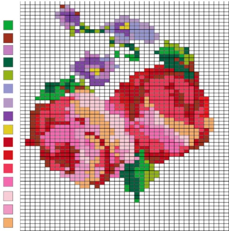 Жаккардовые узоры: схемы рисунков для вышивки 64