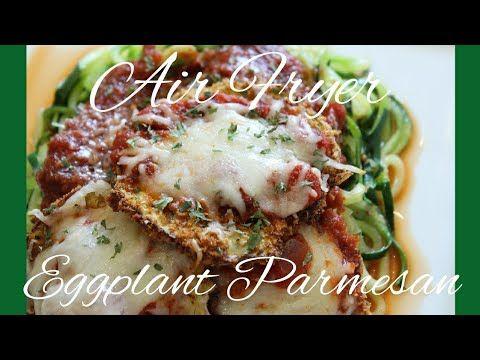 How To Air Fryer Eggplant Parmesan w/ Zoodles *Breville