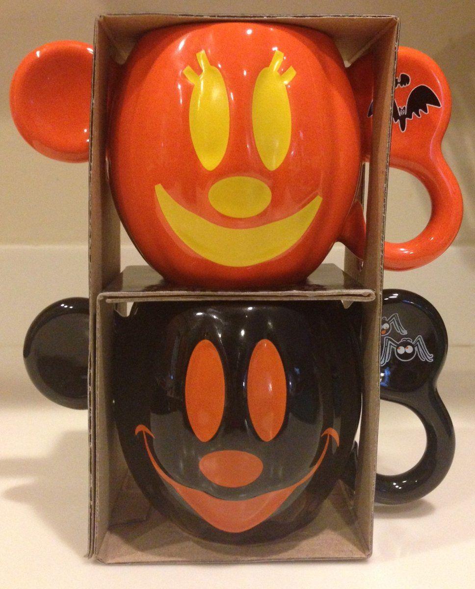 Disney parks mickey mouse halloween mug set