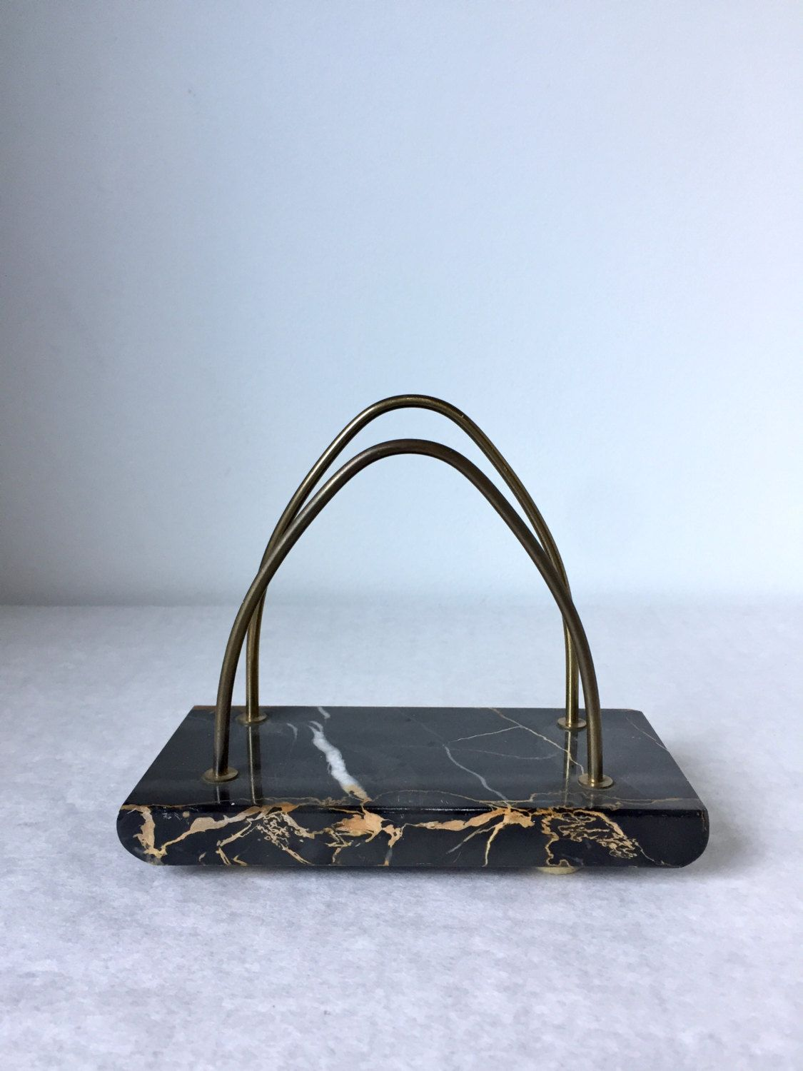 Vintage letter holder, card holder and letter stand marble ...