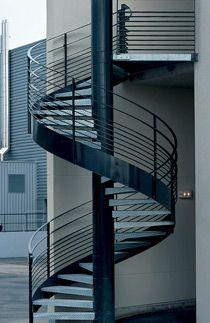 Escalier Helicoidal Industriel Escaliers Decors Escalier Helicoidal Escalier Escalier Exterieur