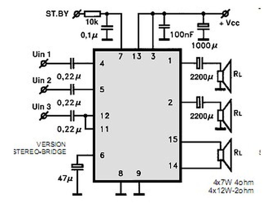 amplificadores de 12 v 30 40 y 70 w con tda