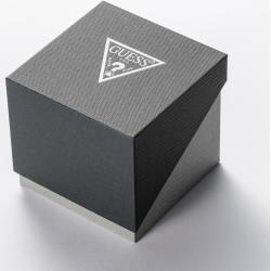 Guess Men Quartz Watch Imprint Black in schwarz Uhr für Damen Guess #charge