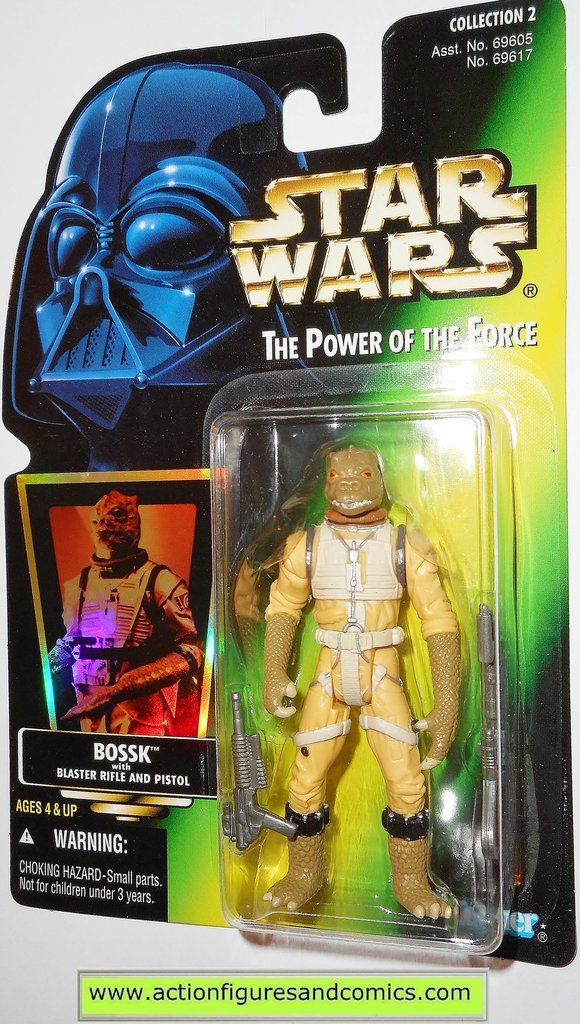 /'97 Star Wars Power of the Force Gamorrean Guard /& Vibro-Ax Vert Holographique Kenner Hasbro