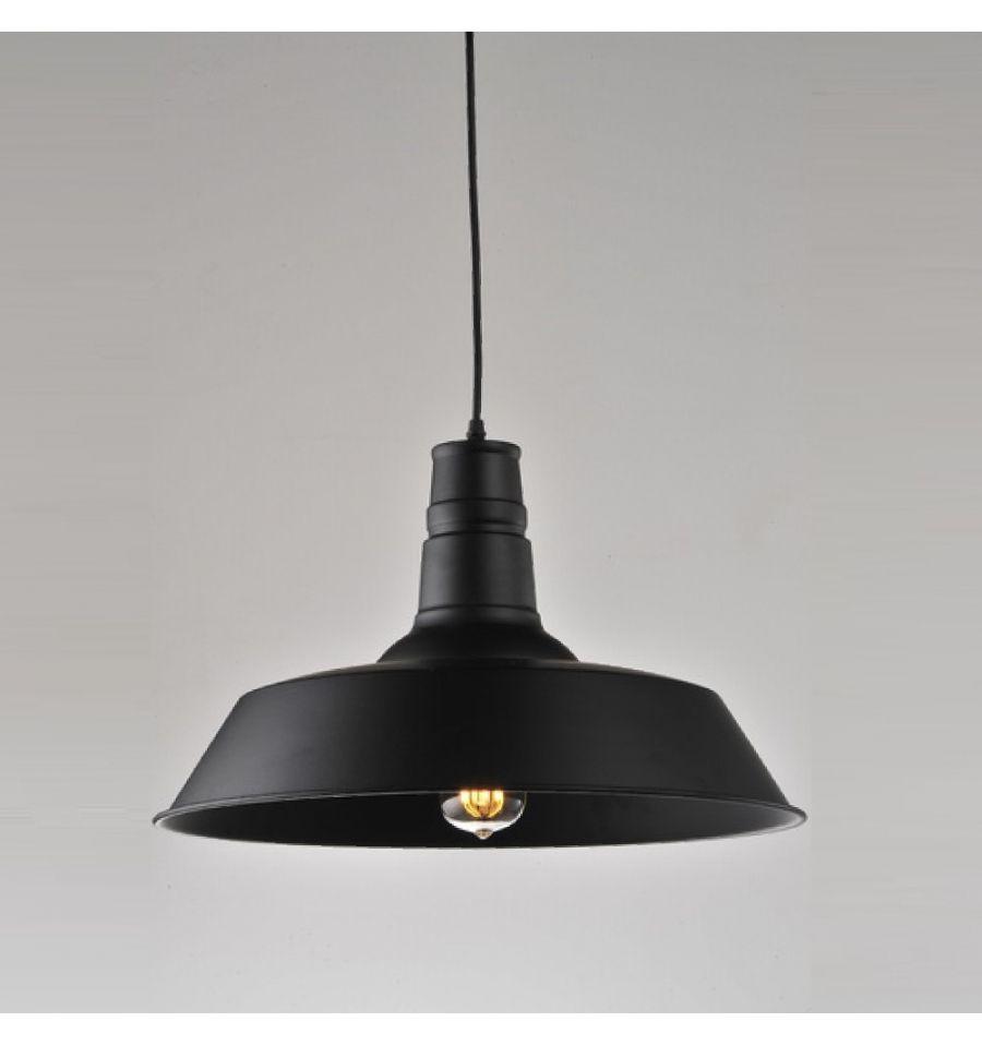 Suspension design noire industrielle XENA + ampoule filament fournie