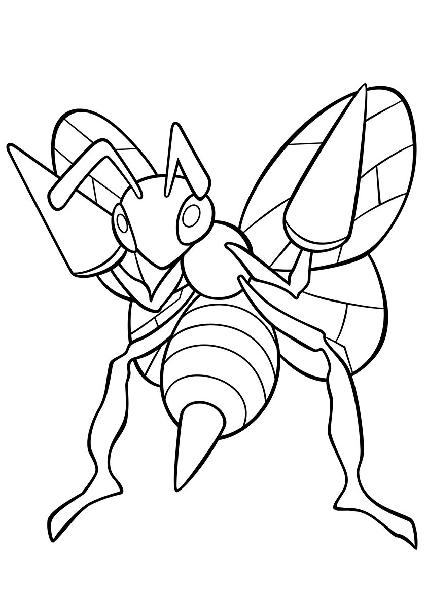 015 Beedrill With Images Pokemon Coloring Pages Coloring