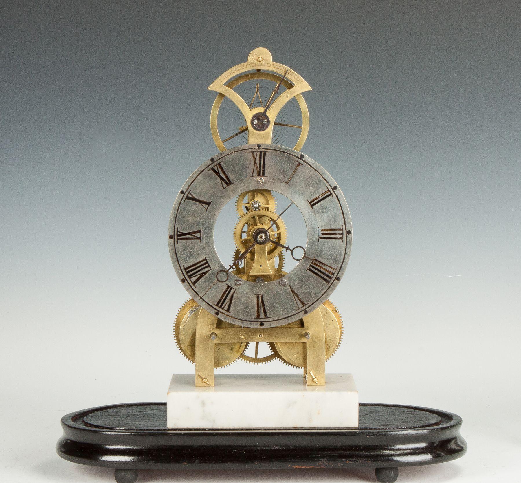 Rare S B Terry Balance Wheel Skeleton Clock Estimated At 5 000 8 000 Skeleton Clock Antique Auctions Clock