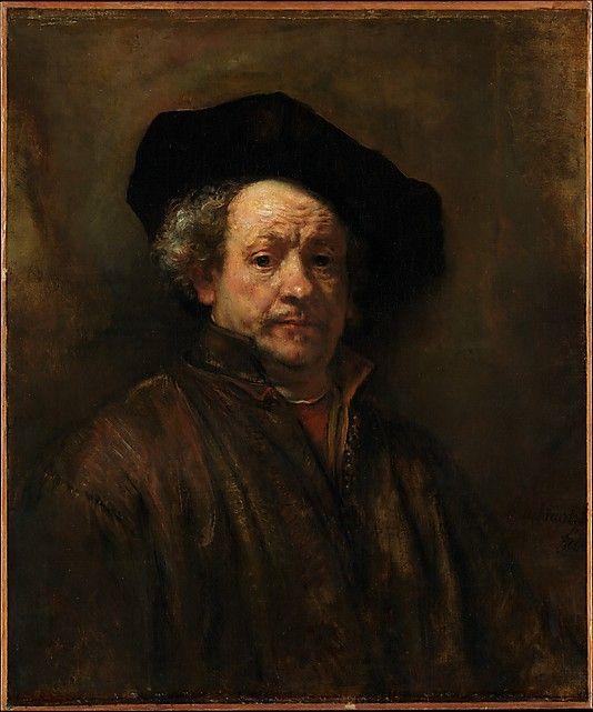 Self Portrait Rembrandt Rembrandt Van Rijn Malerier Tegning Kunst
