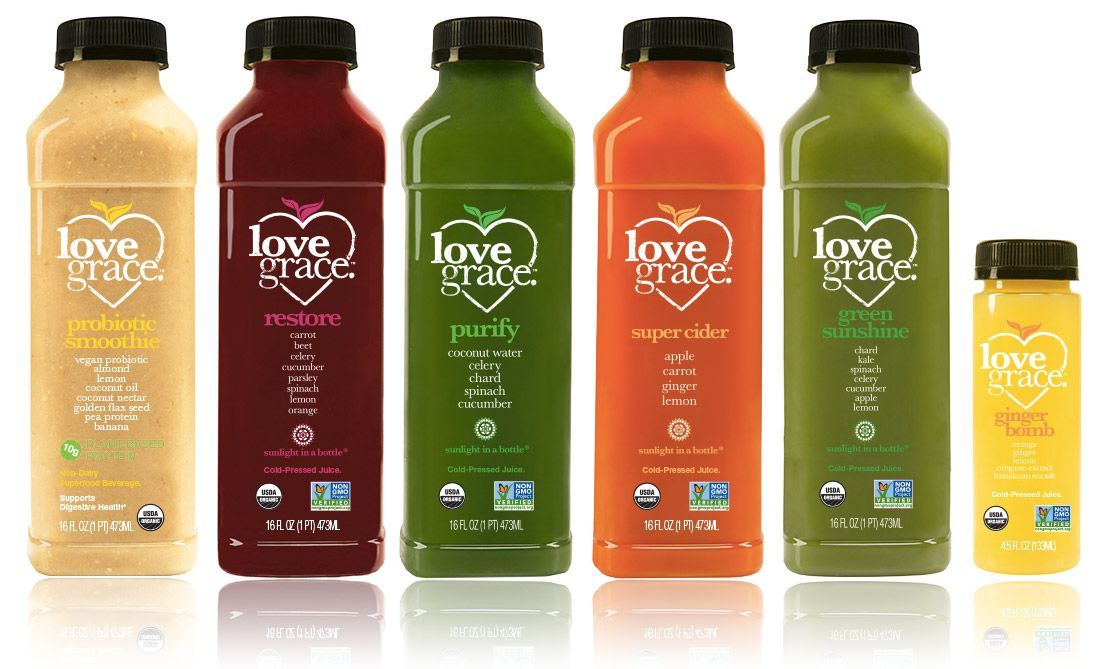 Juice Cleanse by Love Grace cold pressed organic healthy juices - best of blueprint cleanse foundation