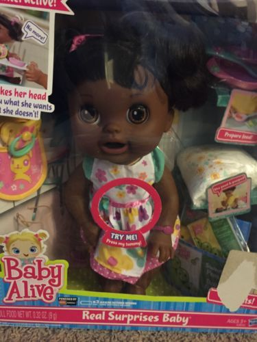 New Baby Alive Real Surprises Baby Doll African American Other Interactive Dolls Dolls Interactive Baby Alive New Baby Products Baby Alive Food