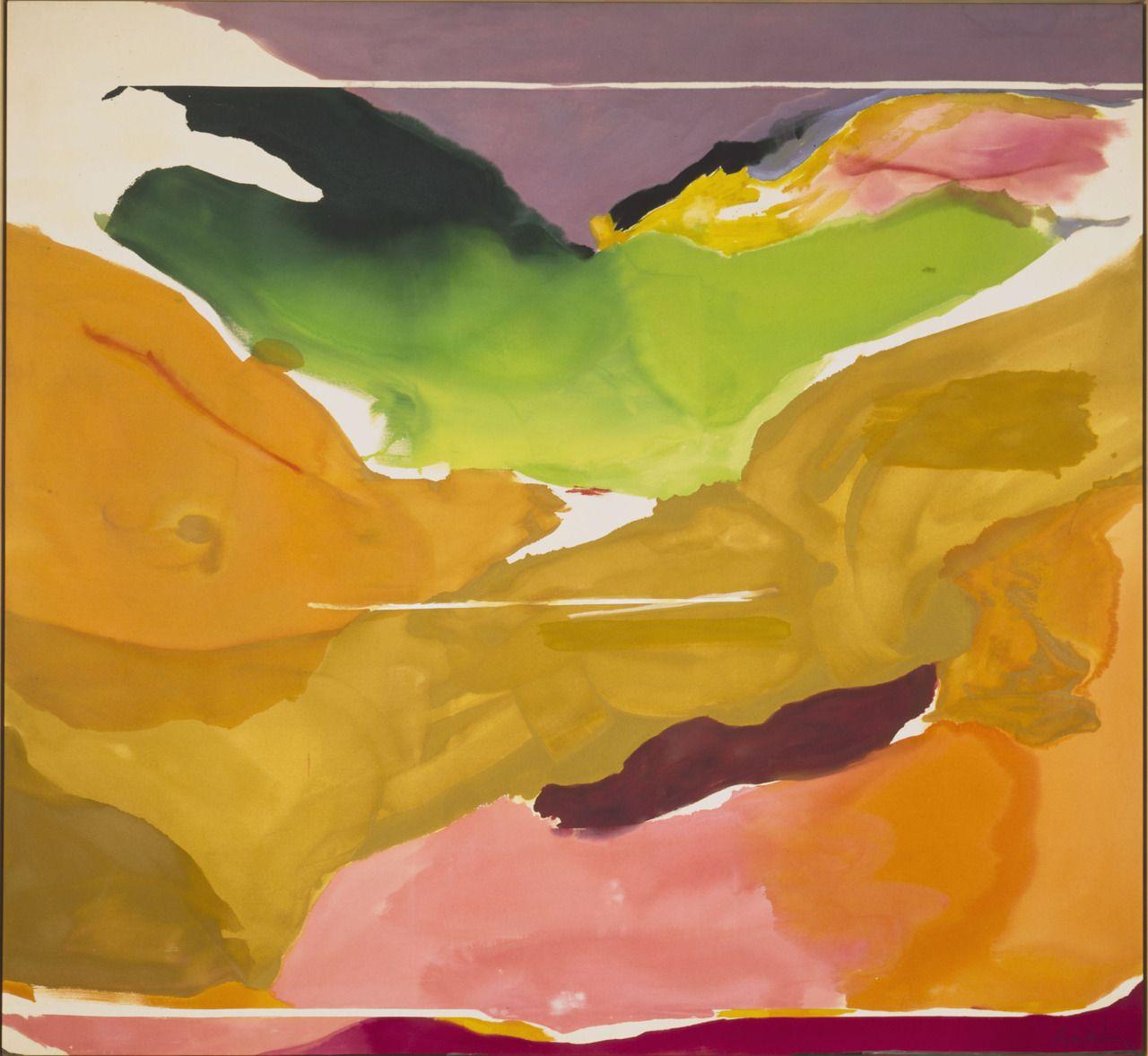 """Nature Abhors a Vacuum,""""1973, Helen Frankenthaler"""