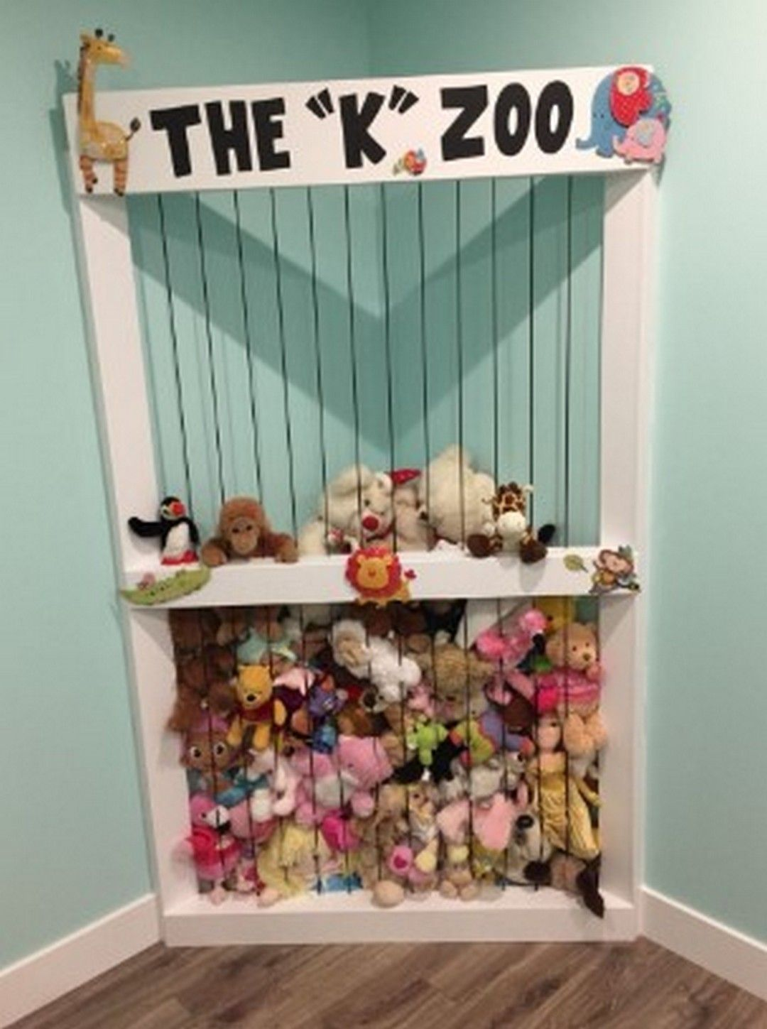 5 Stuffies Animal Storage Ideas Room Kids Like