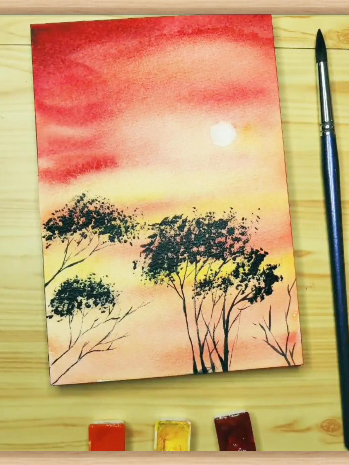 14 لوحة مائية سهلة وجميلة أفكار الرسم بالألوان المائية للمبتدئين Https A Tracteur Cf Beginning Watercolor Watercolor Paintings Watercolor Paintings Easy