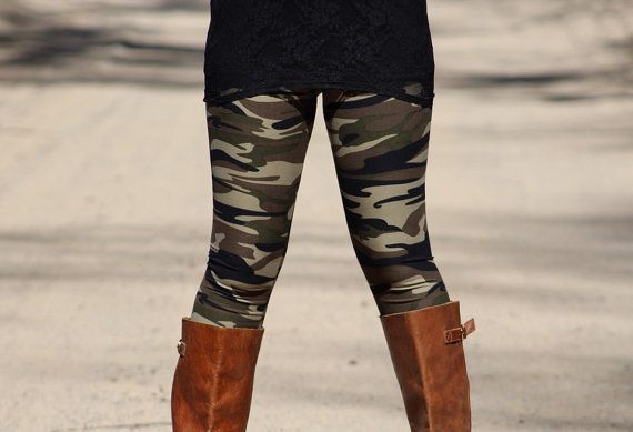 Camouflage Leggings Womens Leggings Printed by 1215Clothing