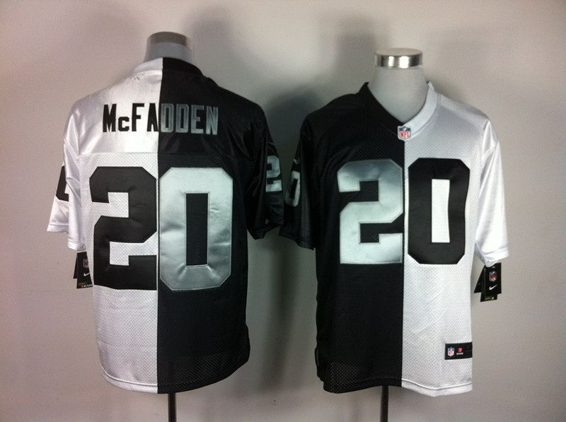 100% authentic 99cca c5ca1 Darren McFadden Jersey White-Black Split Elite #20 Nike NFL ...