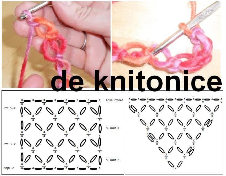 Punto Salomon Tutorial y Patrón Grafico - Patrones Crochet | cr ...