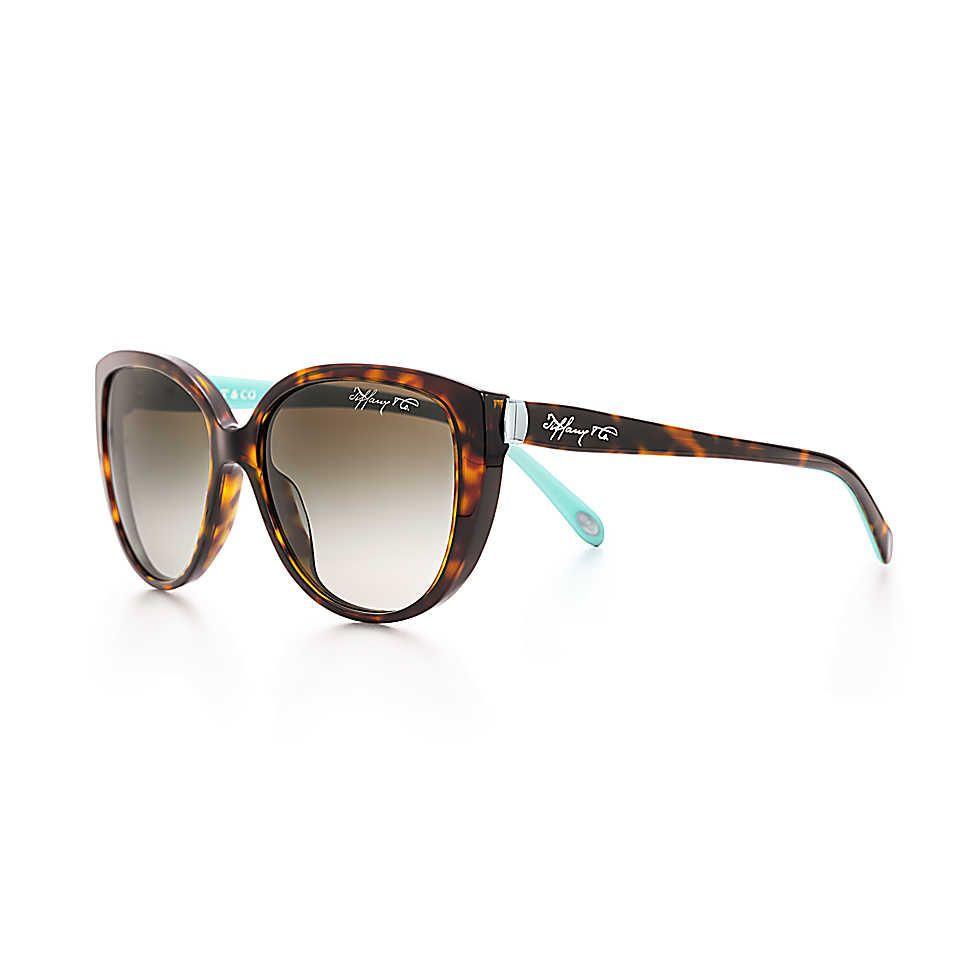 80ee685600fe Tiffany 1837™ cat eye sunglasses in tortoise and Tiffany Blue acetate.