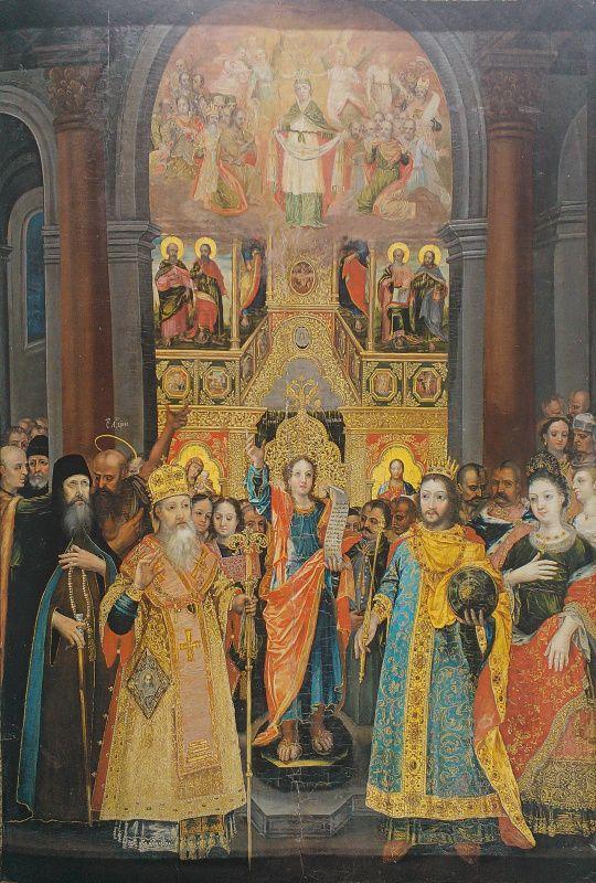 Украинский Иконописец XVIII века. Покрова Богородицы из ...