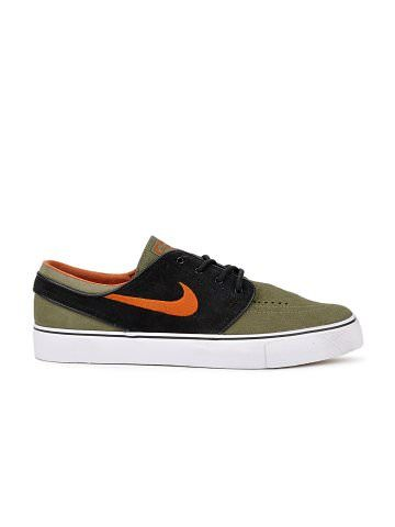 Nike Men Olive Green Black ZOOM STEFAN JANOSKI Casual Shoes | Myntra via  @Myntra.com