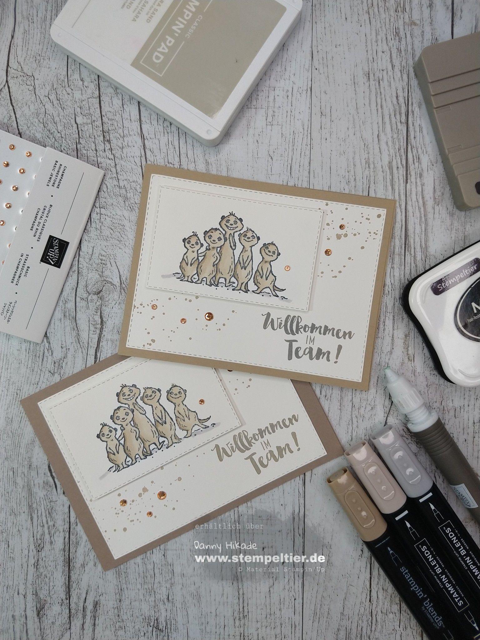 Maui Bloghop Erdmannchen Stampin Up Karten Geburtstag Karten