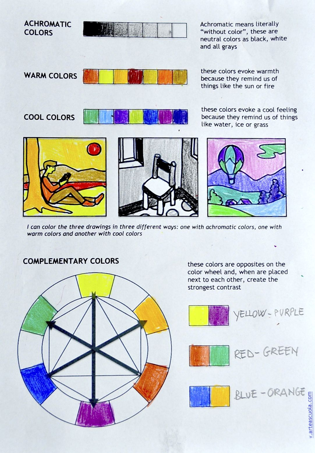 color theory worksheet for students art kids ideas pinterest worksheets teaching art and. Black Bedroom Furniture Sets. Home Design Ideas