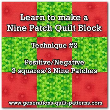 Making Nine Patch quilt blocks is as easy using just two ...