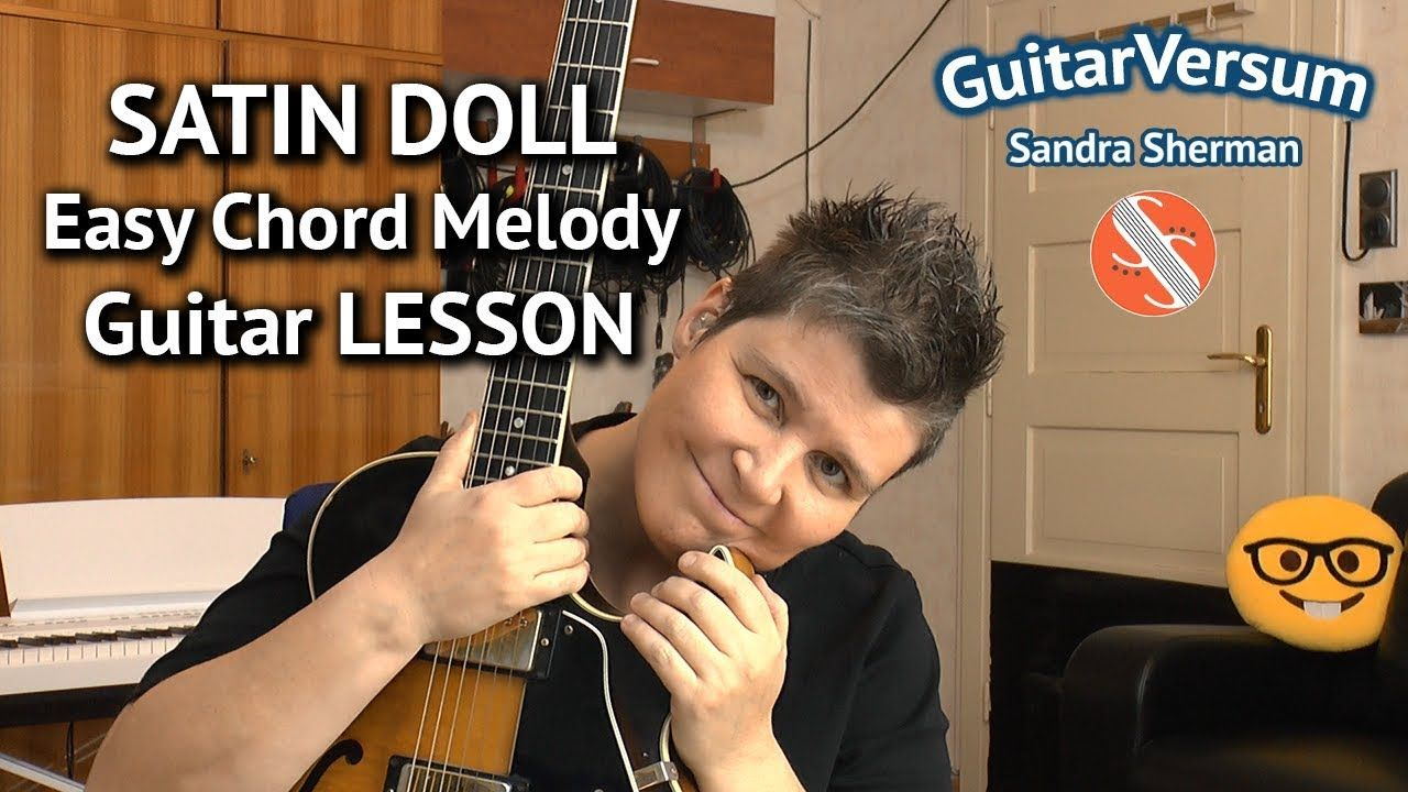 SATIN DOLL - Easy Chord Melody LESSON - Jazz Guitar Tutorial
