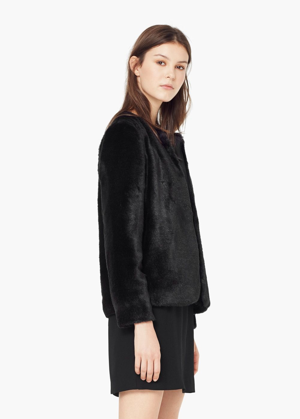 Faux fur coat - Coats for Women   MANGO- emphasis on the faux!!! Fun for  holidays ) a76e0adf592b