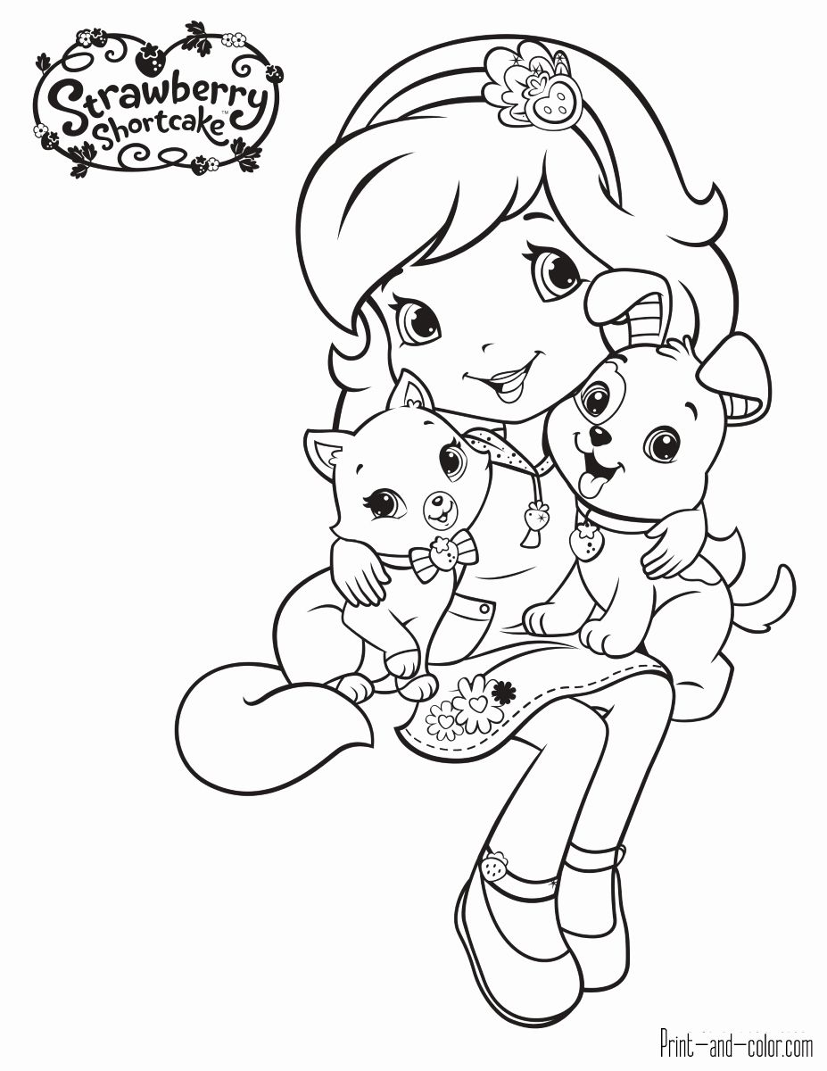 Strawberry Shortcake Coloring Book Awesome 45 Strawberry